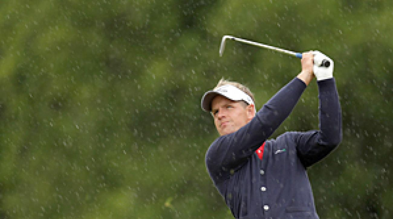 Luke Donald made eight birdies and one bogey on Thursday.