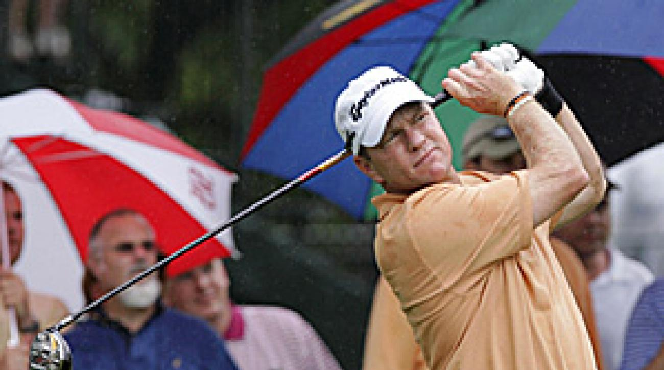 The Texan Scott Verplank had five birdies in 13 holes Saturday before the third round was stopped. He is nine under for the tournament, tied with five other players. Last month in nearby Irving, he had an emotional victory at the EDS Byron Nelson Championship.