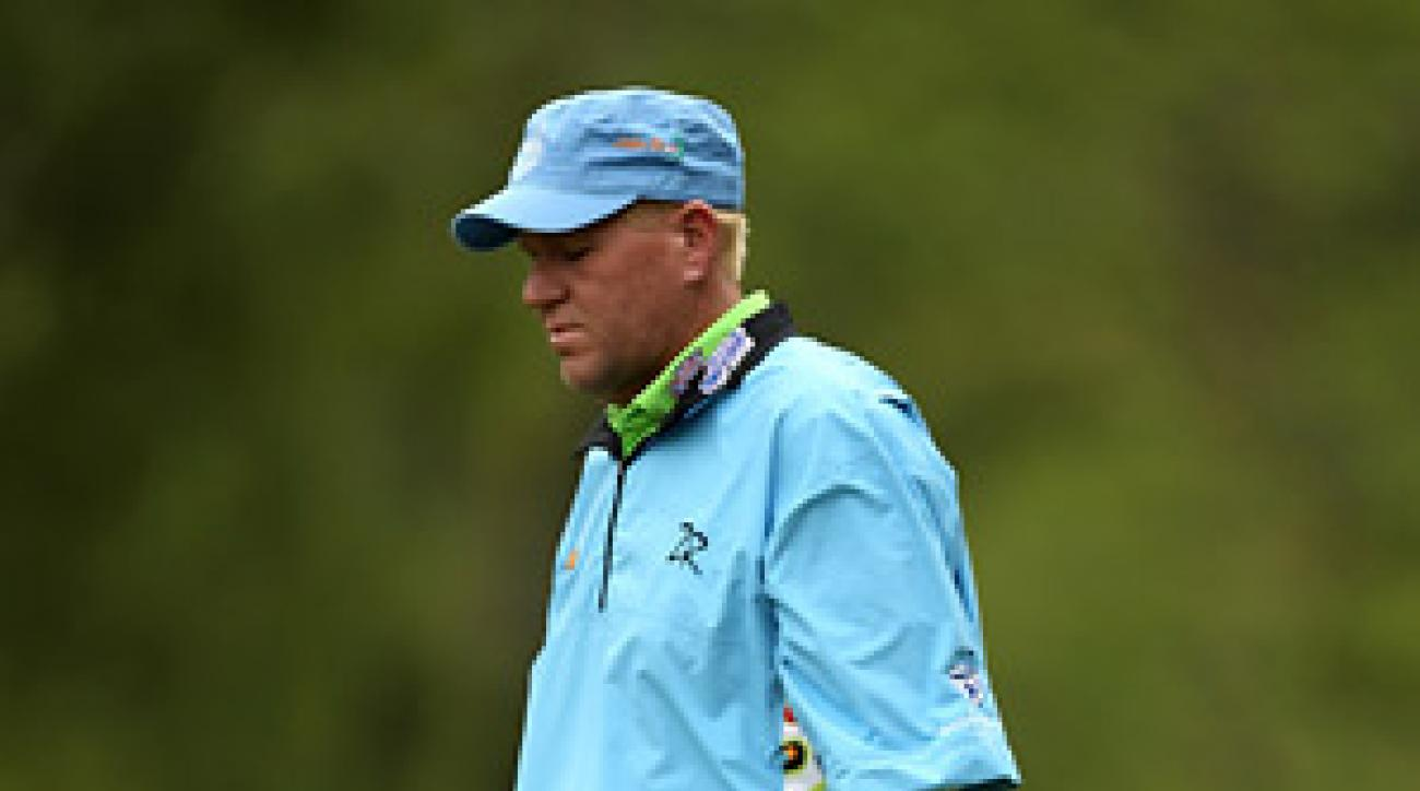 John Daly was 11 over through the first 14 holes of his second round when he withdrew due to a hip injury.