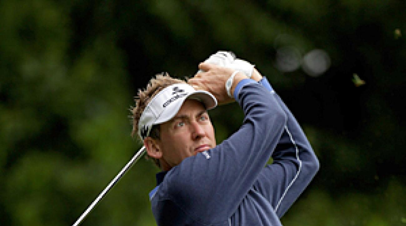 Ian Poulter shot a three-over 74 on Friday.