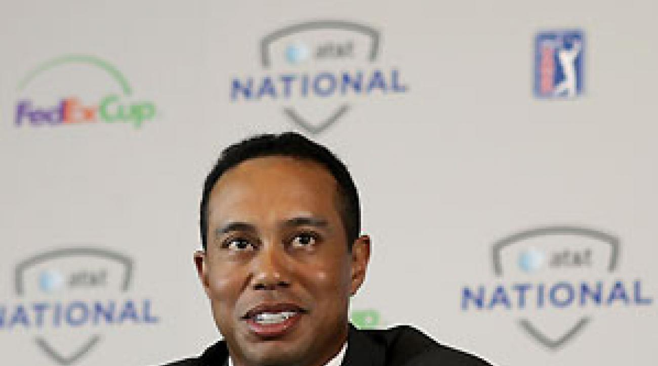 Tiger Woods hasn't played a tournament since the Masters.