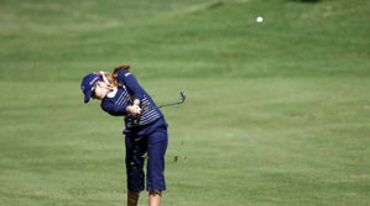 Paula Creamer bogeyed two of her final three holes.