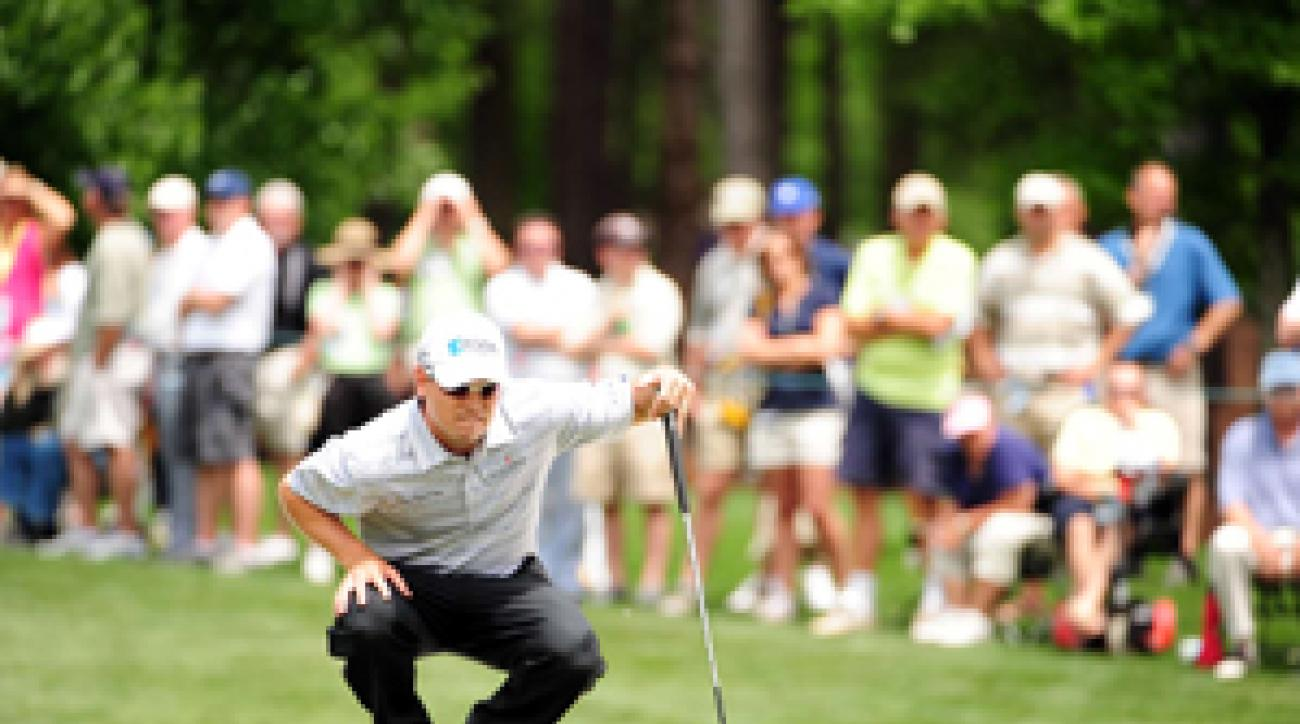Zach Johnson made an eagle, five birdies and three bogeys.