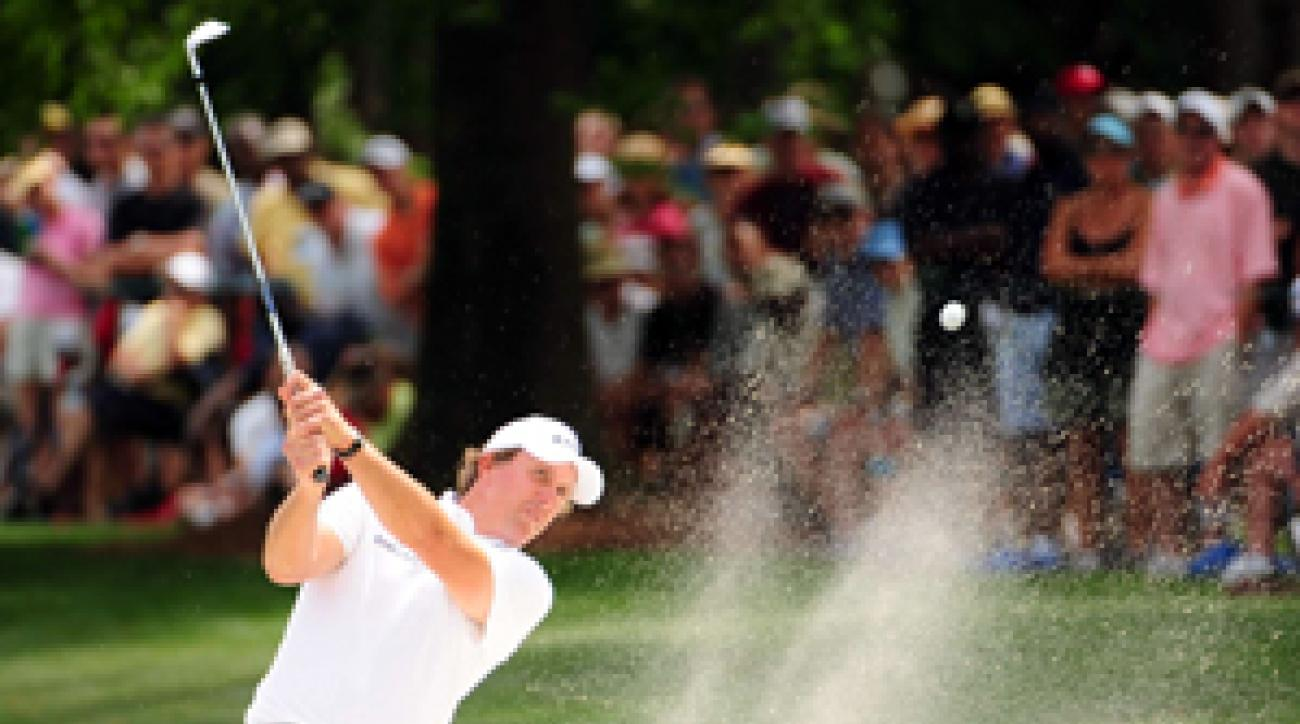 Phil Mickelson shot a 75 on Saturday.