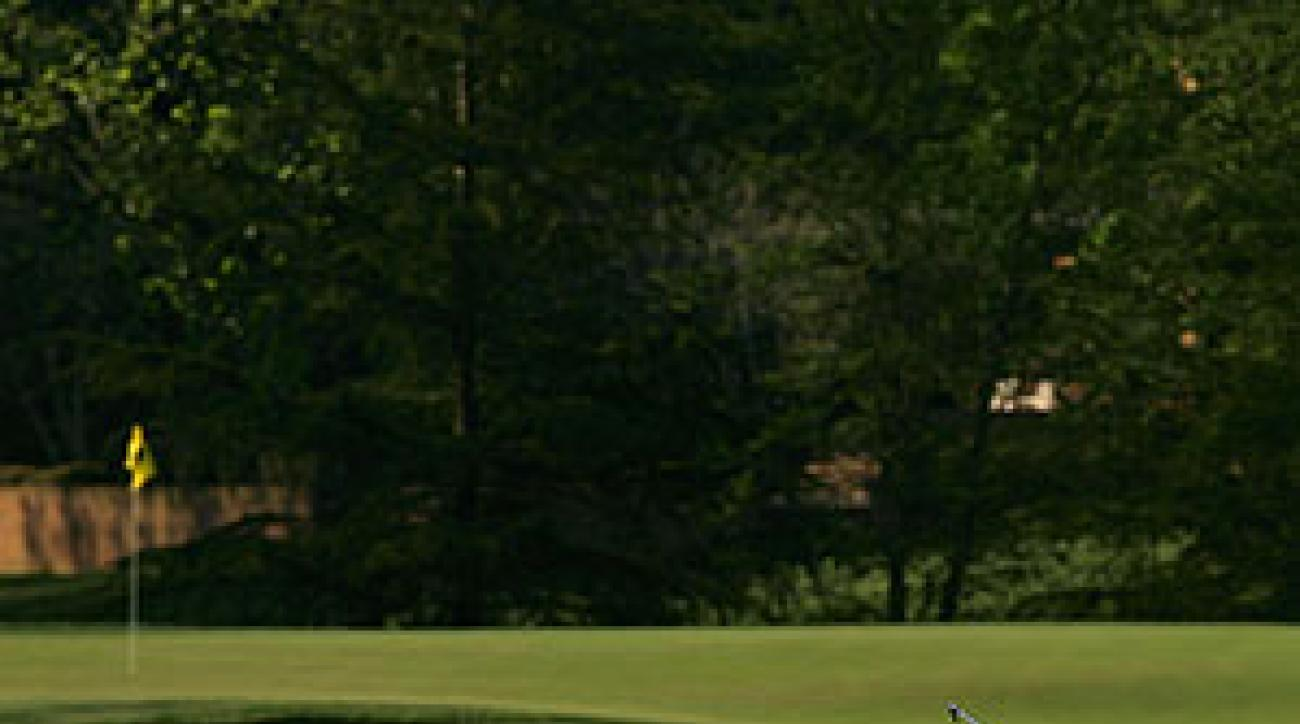 Tiger Woods played with Michael Jordan Wednesday at Quail Hollow in the pro-am at the Wachovia Championship.