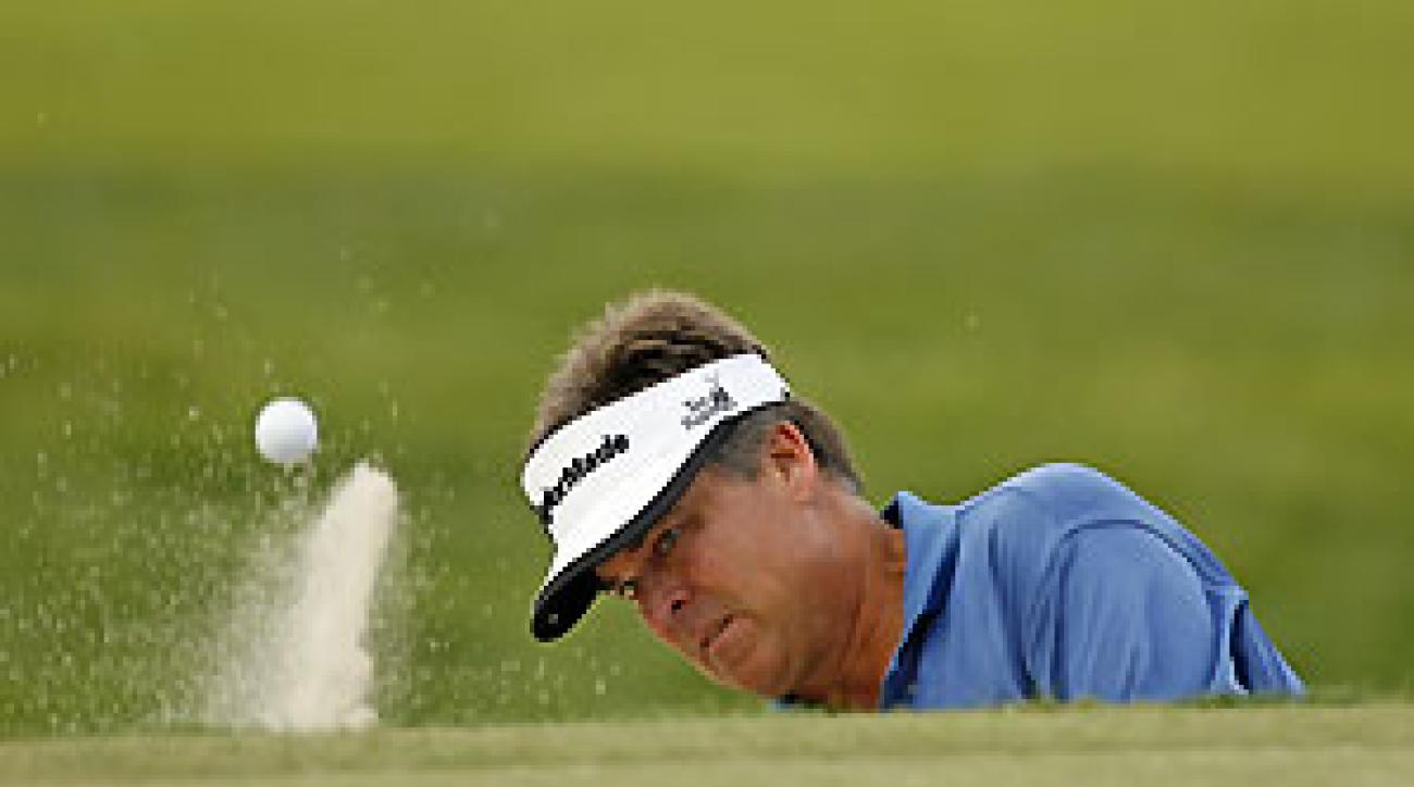 Kenny Perry made one eagle, four bogeys and three birdies.