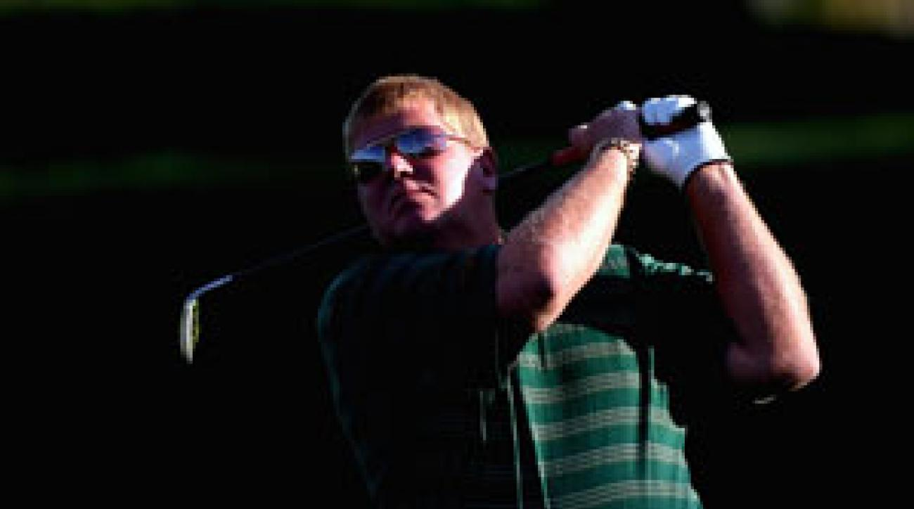 John Daly made a television appearance last week wearing only blue jeans.
