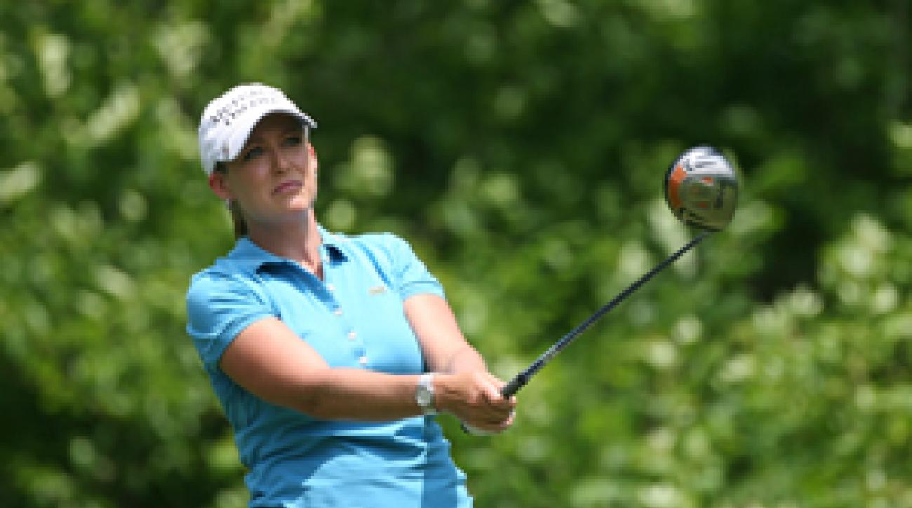 Cristie Kerr birdied three of the last four holes for a 66.