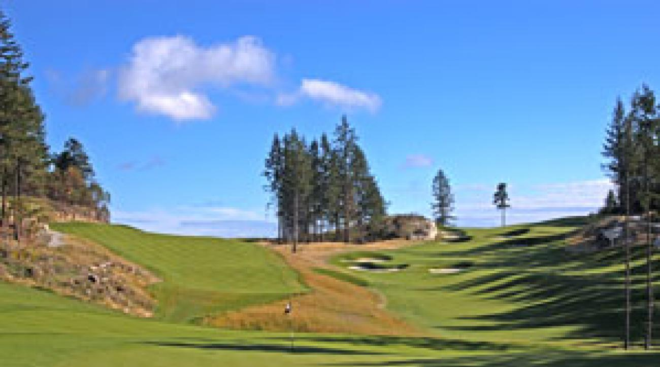 The 14th hole on Westin resort's Mountain course.