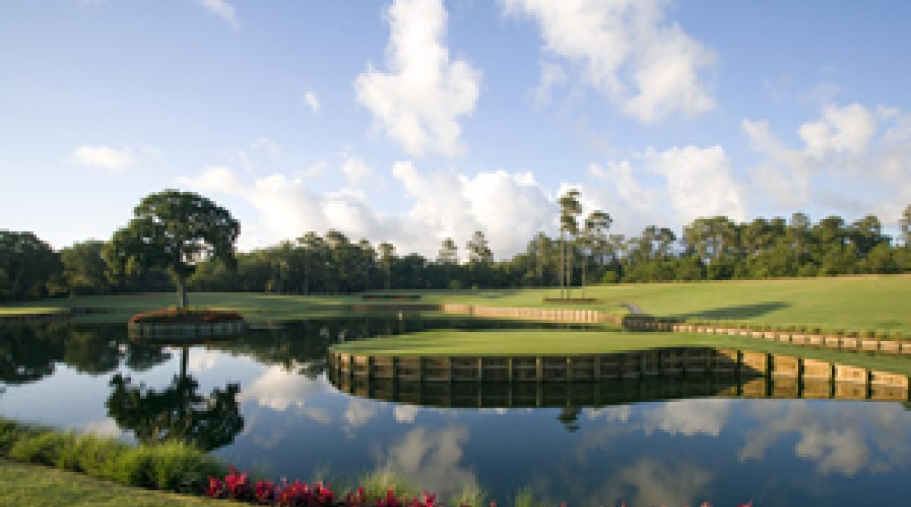 The Stadium Course and its famous par-3 17th are right down the road from the Marriott.