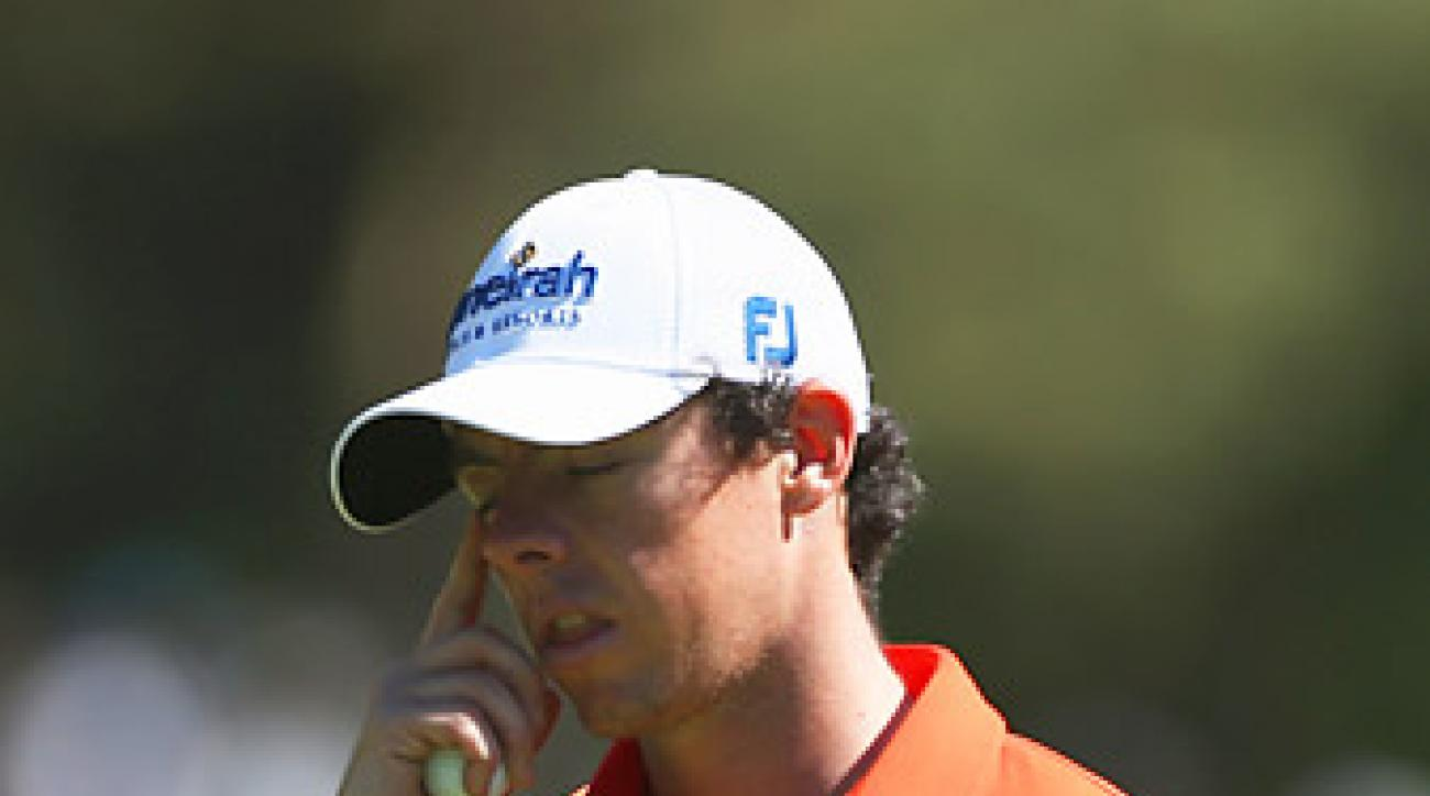 McIlroy shot 79 on Friday to miss the cut.