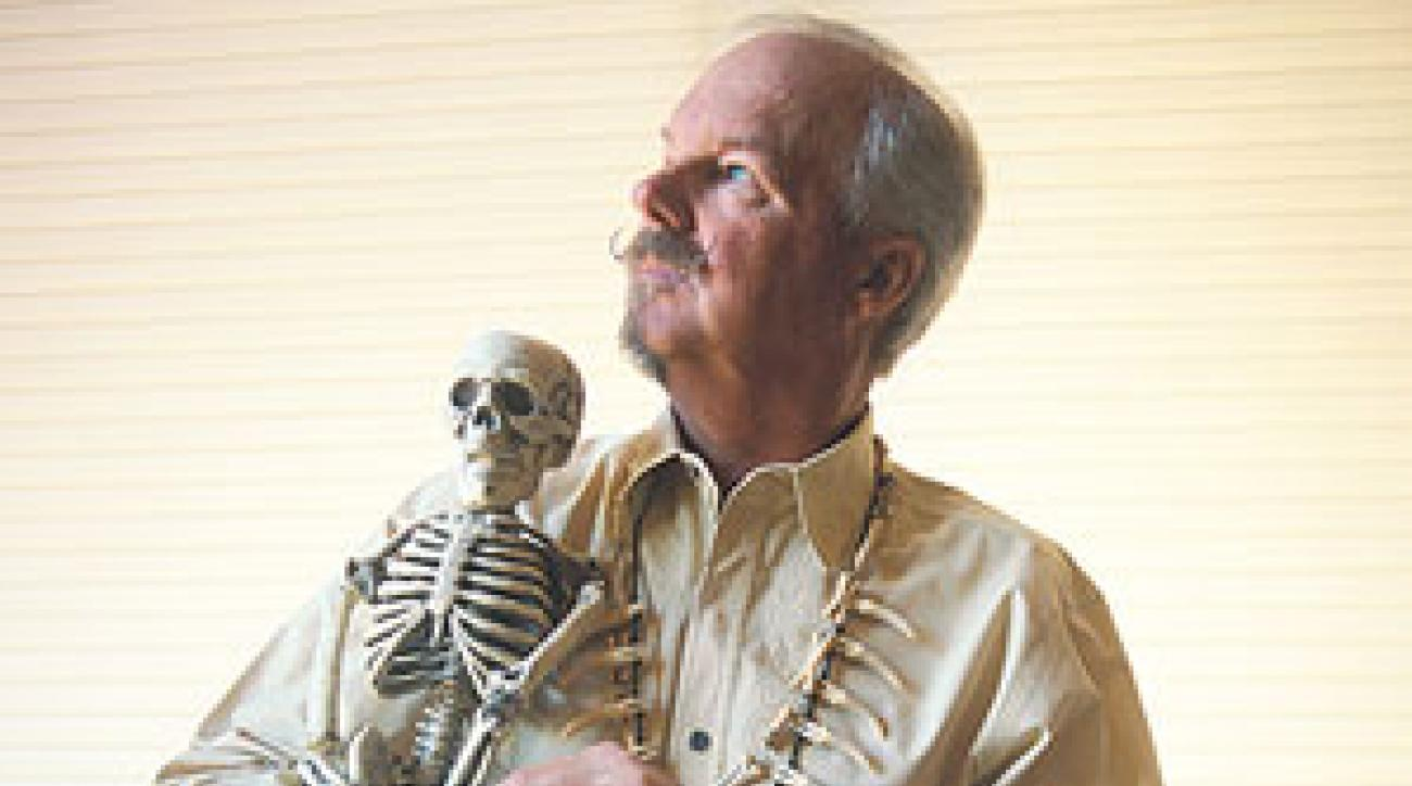 Yes, McCord has skeletons in his closet -- and lots of other weird stuff, too. This creepy creature was among several curiosities McCord unveiled at his Scottsdale, Ariz., home.