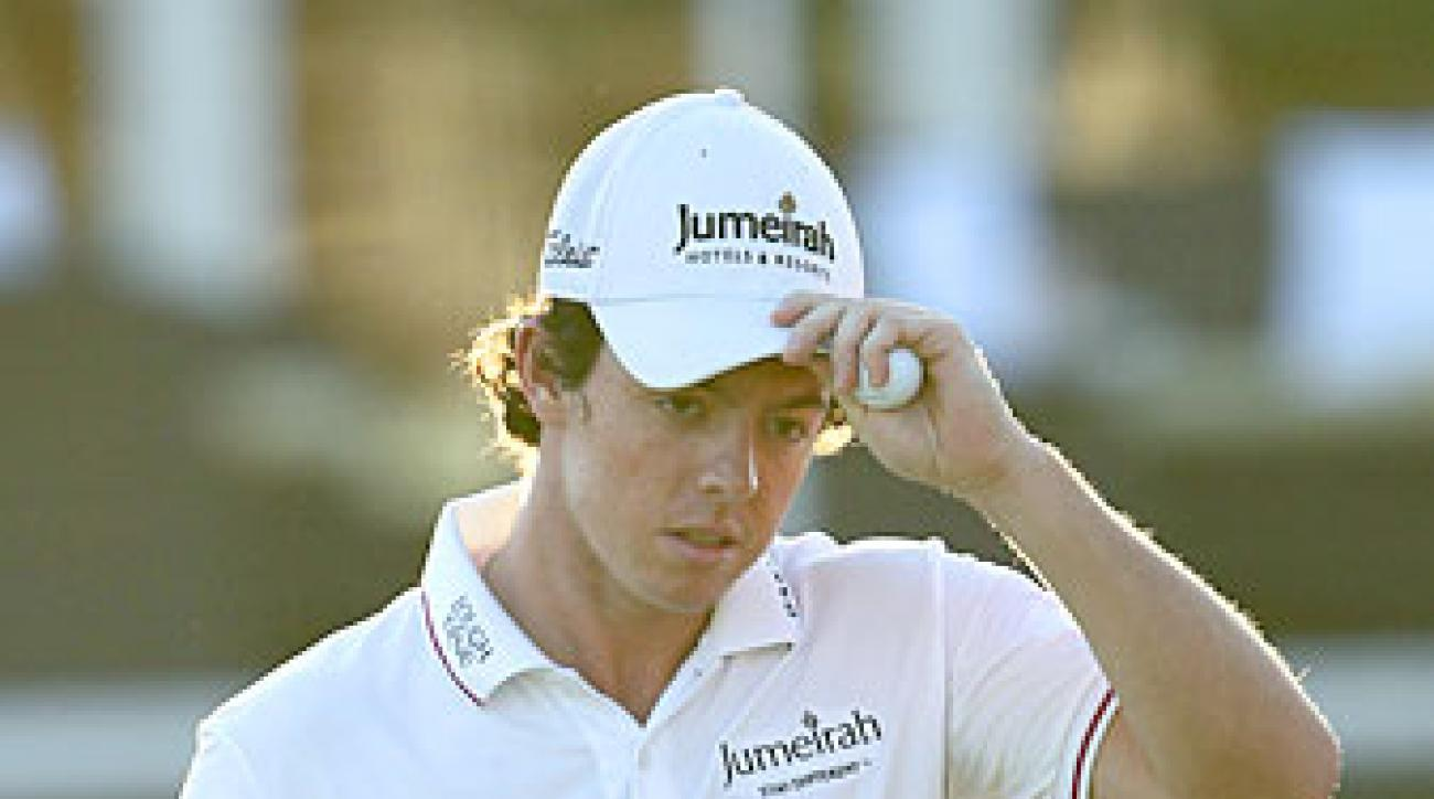 Rory McIlroy shot a 71 on Friday.
