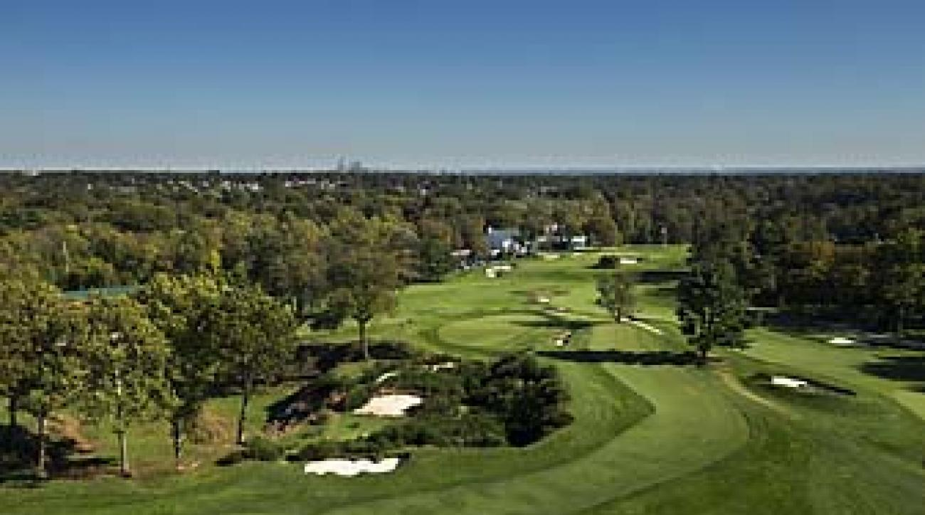 The 16th hole at Merion Golf Club in Ardmore, Pa., host of the 2013 U.S. Open. Tiger Woods had not played the course until his round on Tuesday afternoon.