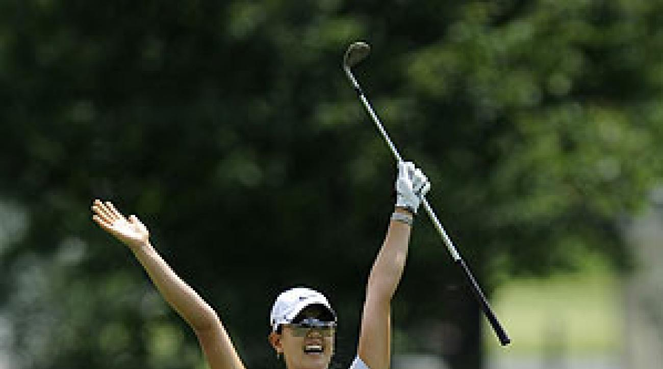 Michelle Wie eagled from the first fairway on Sunday.