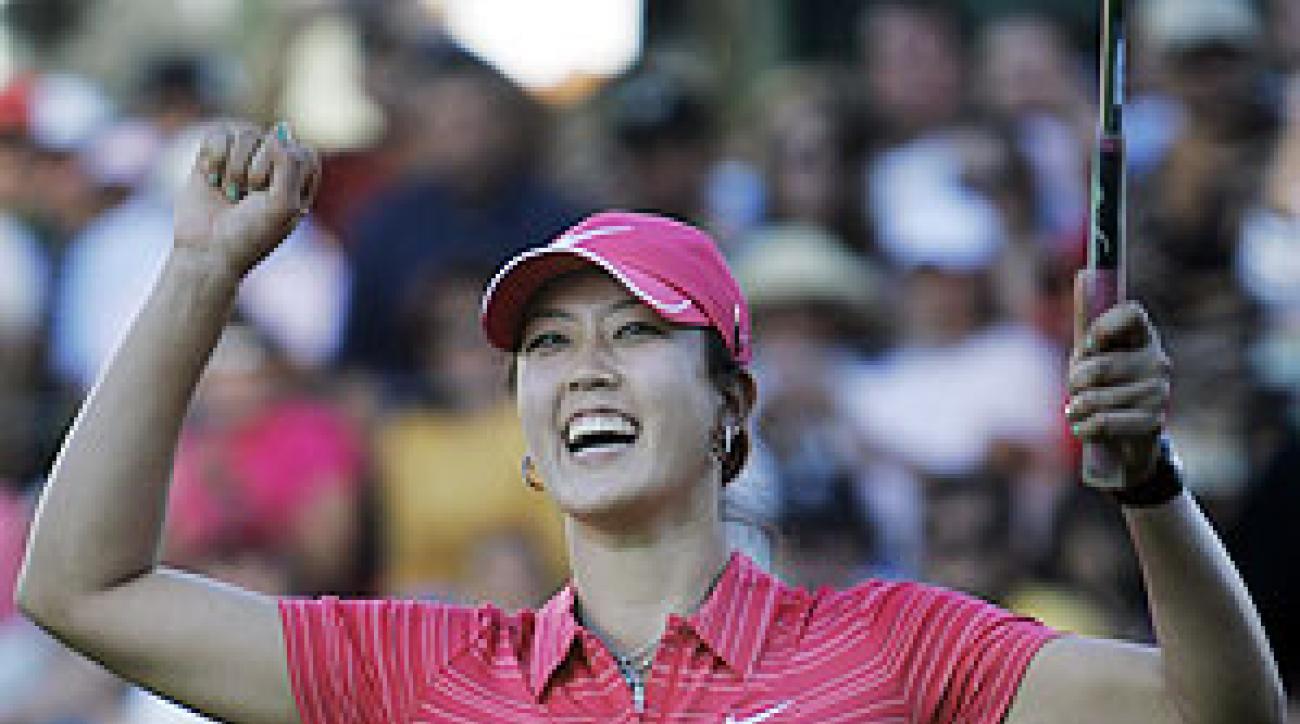 Michelle Wie won her first pro tournament Sunday at the Lorena Ochoa Invitational.