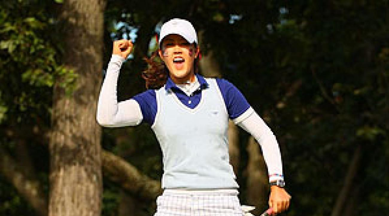 """This is the most fun I've ever had playing golf,"" Wie said."