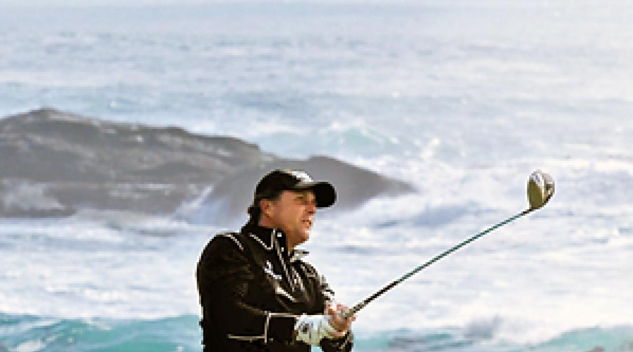 GOOD TIMES: Mickelson shot a 68 in his first round as a pro when Pebble hosted the Open in 1992 and finished 16th there in 2000.