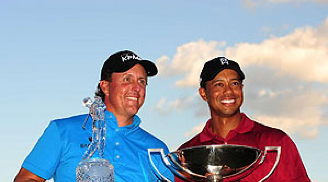 Woods's Sunday best, a scrambling 70, couldn't beat Mickelson but was still worth $10 million.
