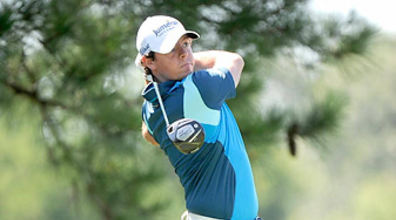 Rory McIlory shot an opening-round 68 in Memphis.
