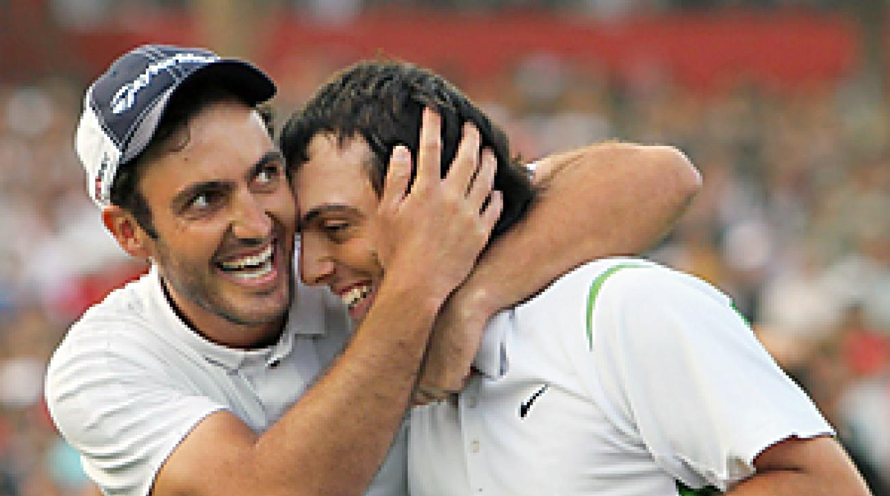 SPORTS SUPERPOWER: Francesco (right) and Edoardo won golf's World Cup last November, and when they tee it up at Pebble their country will be defending its soccer World Cup title.