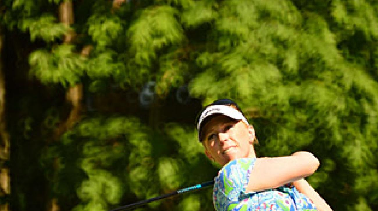 Morgan Pressel was in command of her semifinal match until the slow-play penalty.