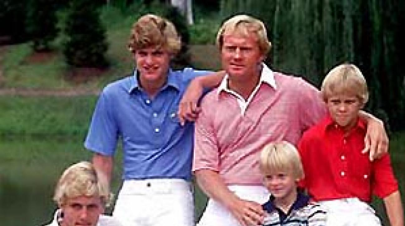 Nicklaus, with sons in 1978, mastered golf and kids.