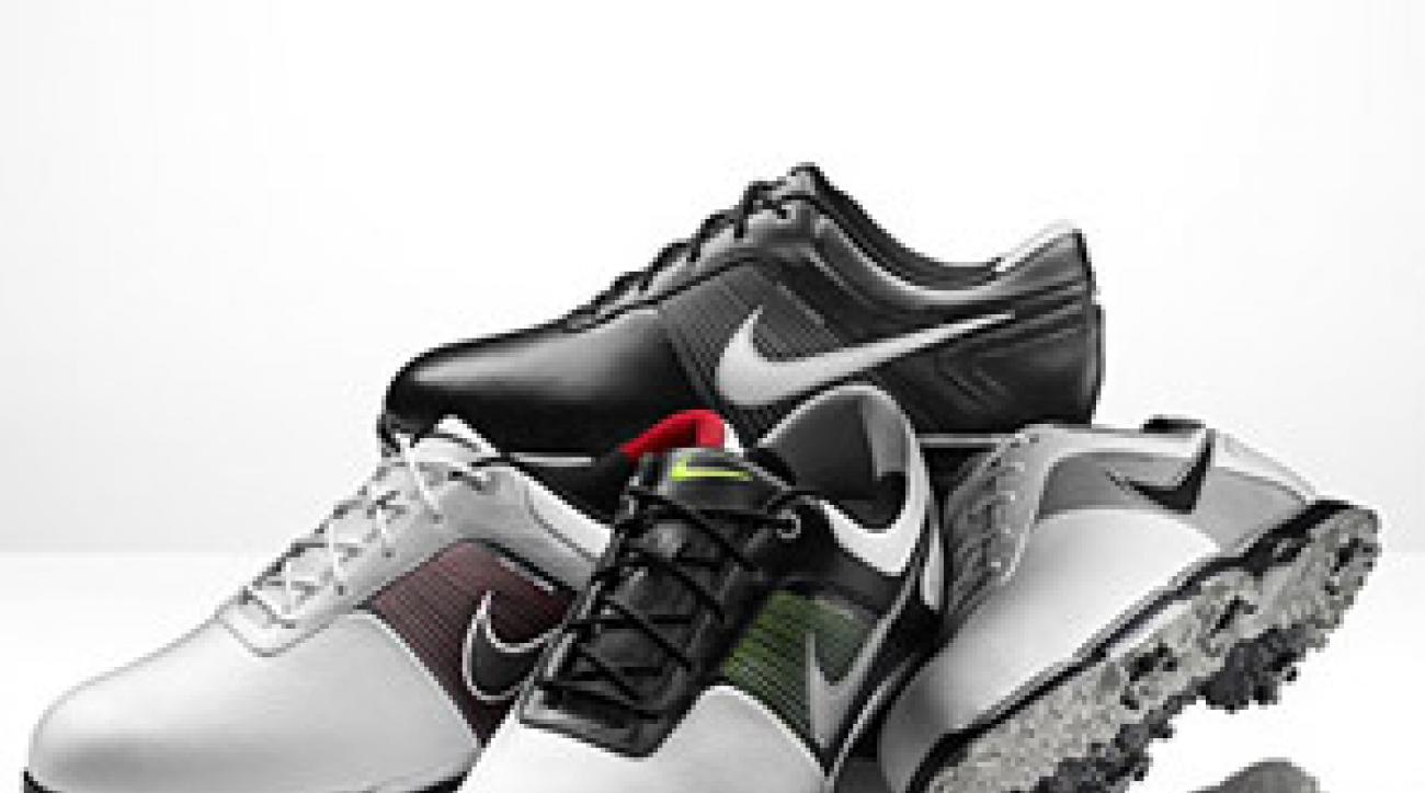 """Top: Nike's new men's shoes with """"lunar control"""" technology. Bottom: Nike Air Embellish"""