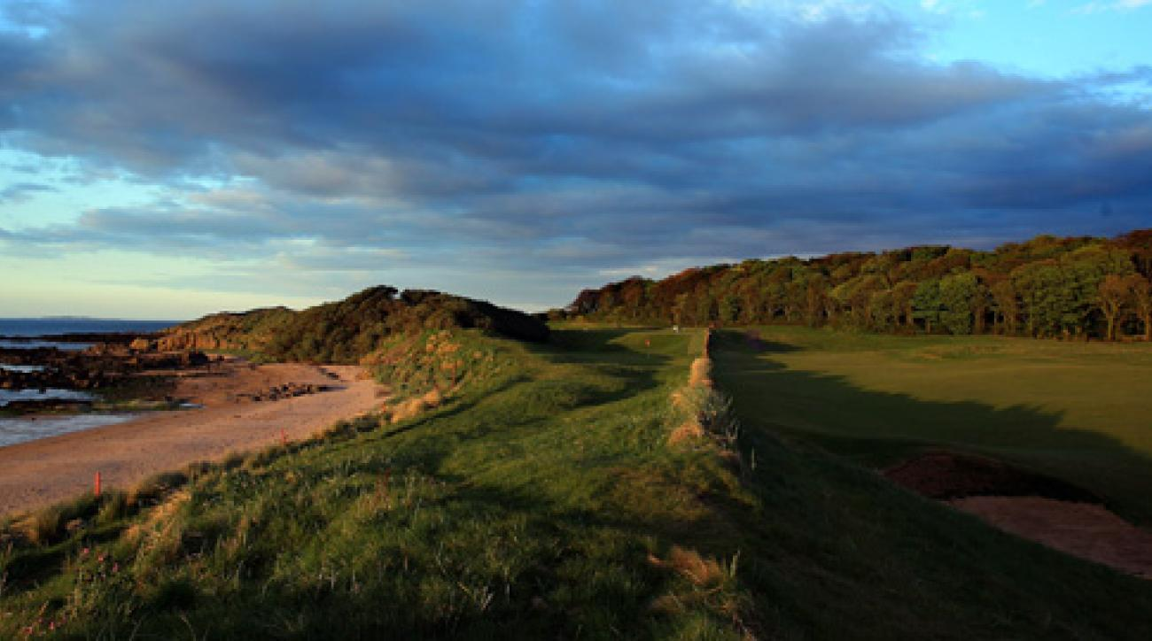 The par-4 13th hole at North Berwick, where not much has changed since 1832.