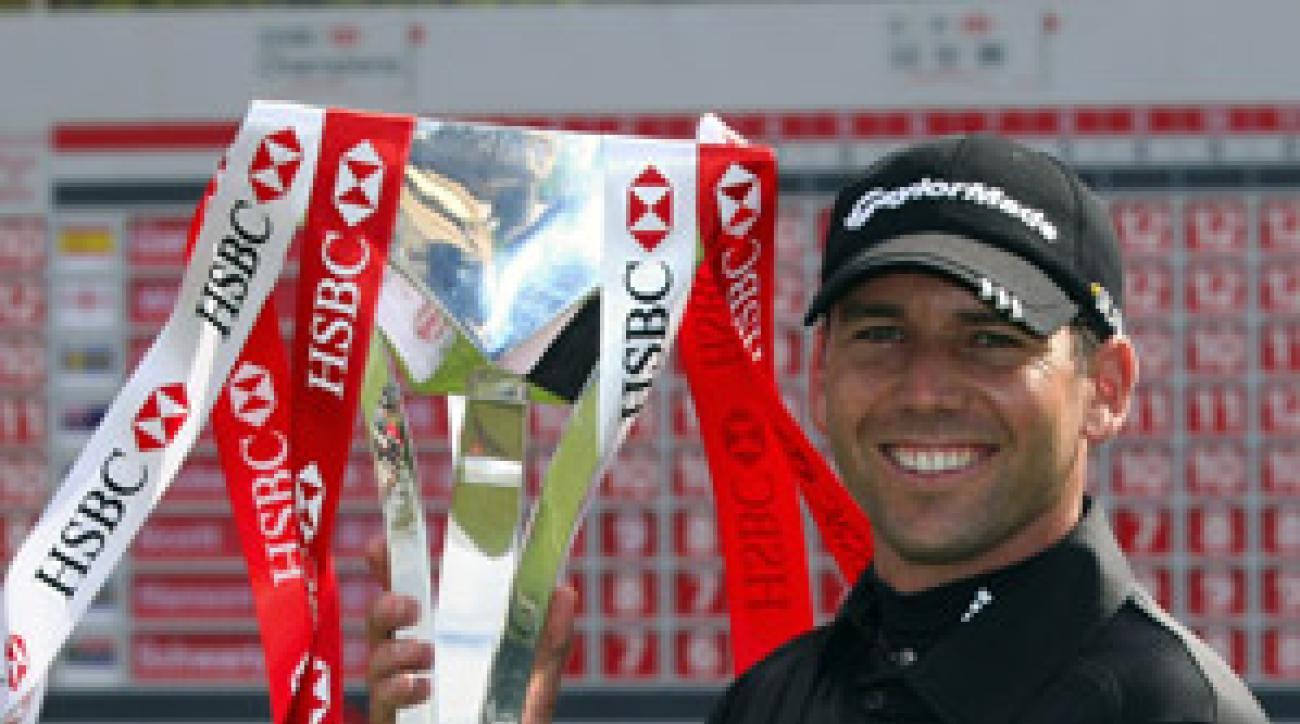 Sergio Garcia is now ranked No. 2 behind Tiger Woods.