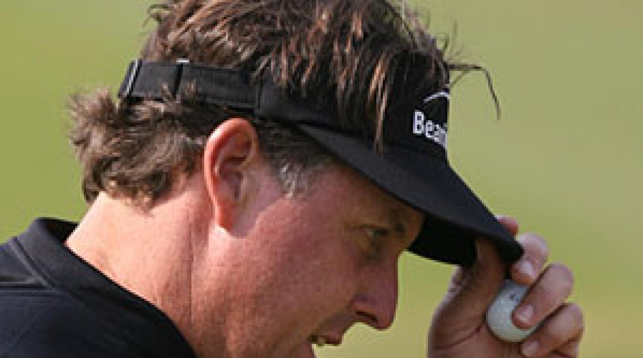 Phil Mickelson won despite shooting 40 on the back nine Sunday.