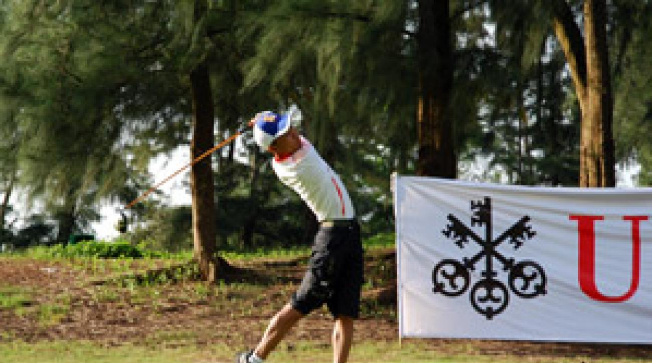 Ziwang's home country has only one golf course, a nine-holer.