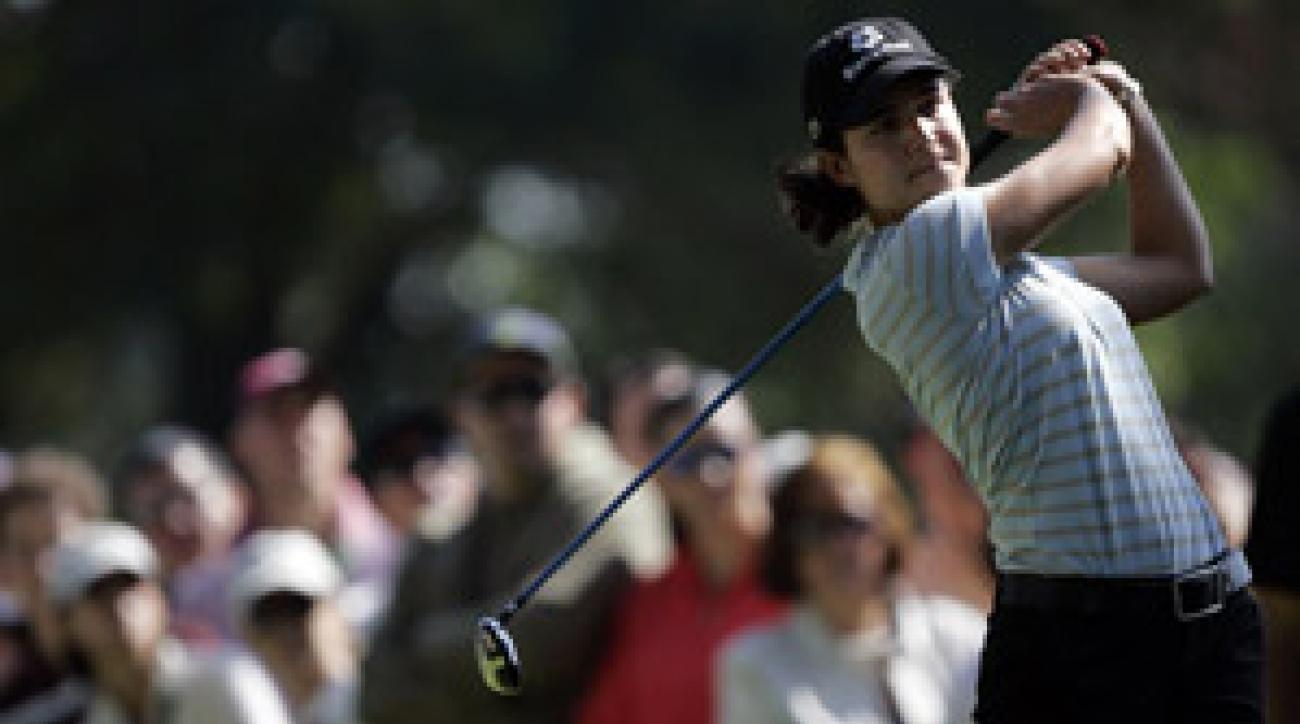 Tournament host Lorena Ochoa shot a one-under 71.