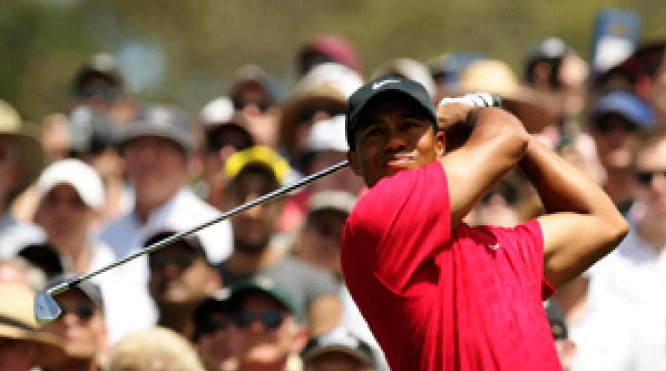 Tiger Woods made five birdies and a bogey on Sunday.