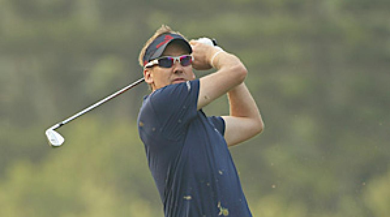 Poulter shot a 60 on Friday, besting the course record by one shot.