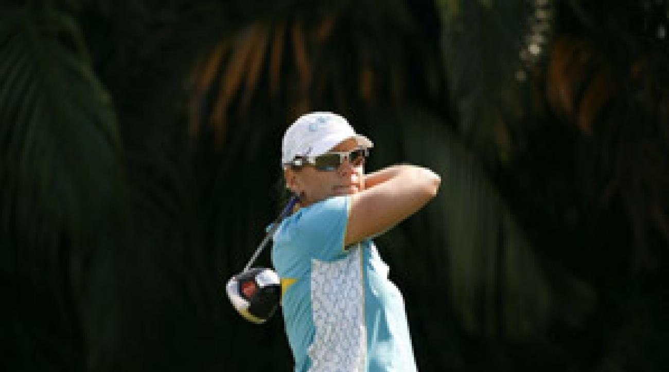Annika Sorenstam shot rounds of 74-75 to miss the cut.