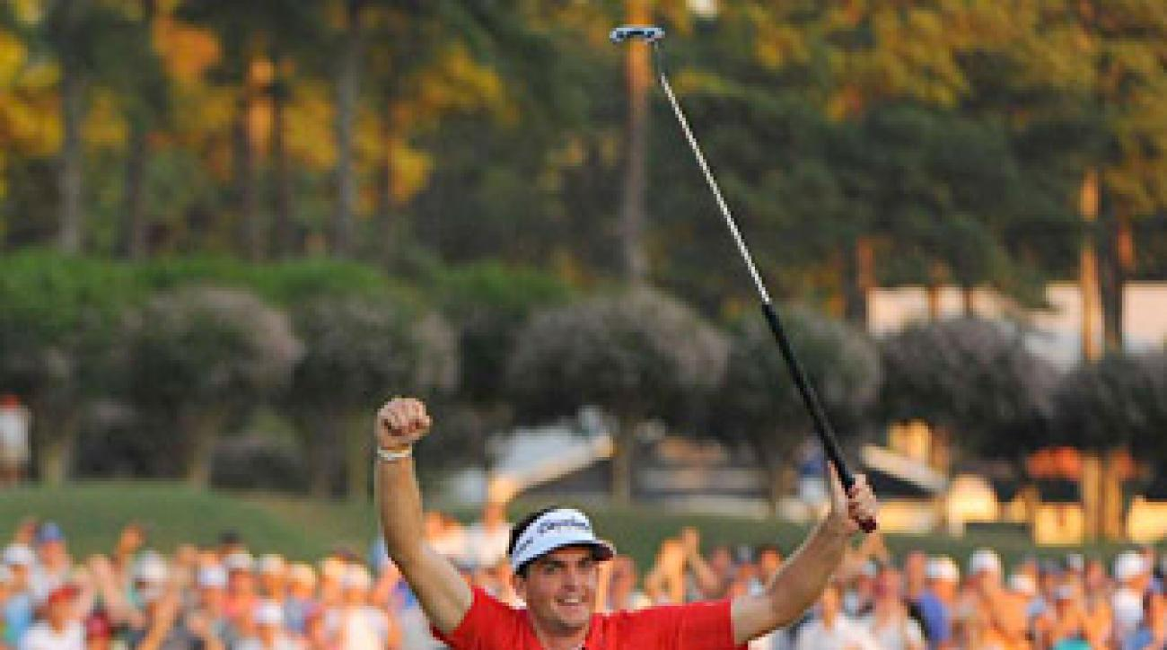 Rookie Keegan Bradley won twice in 2011, including the PGA Championship at Atlanta Athletic Club.