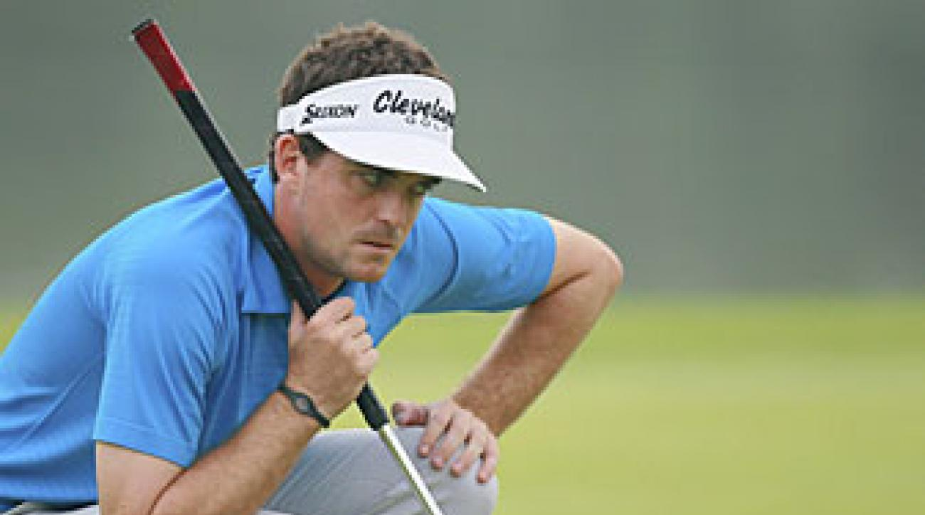 Keegan Bradley made five birdies and an eagle on Thursday.