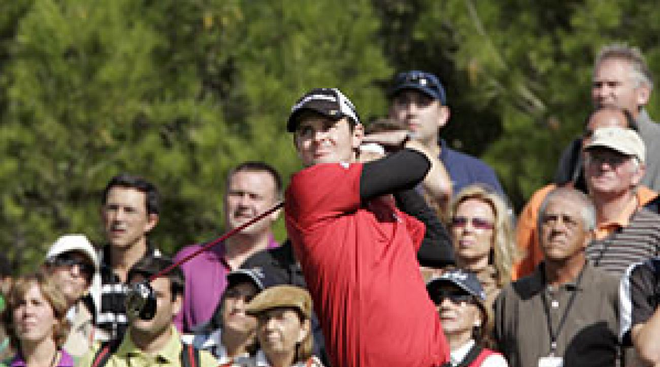 Justin Rose recovered from a bogey-double bogey start to shoot even par.