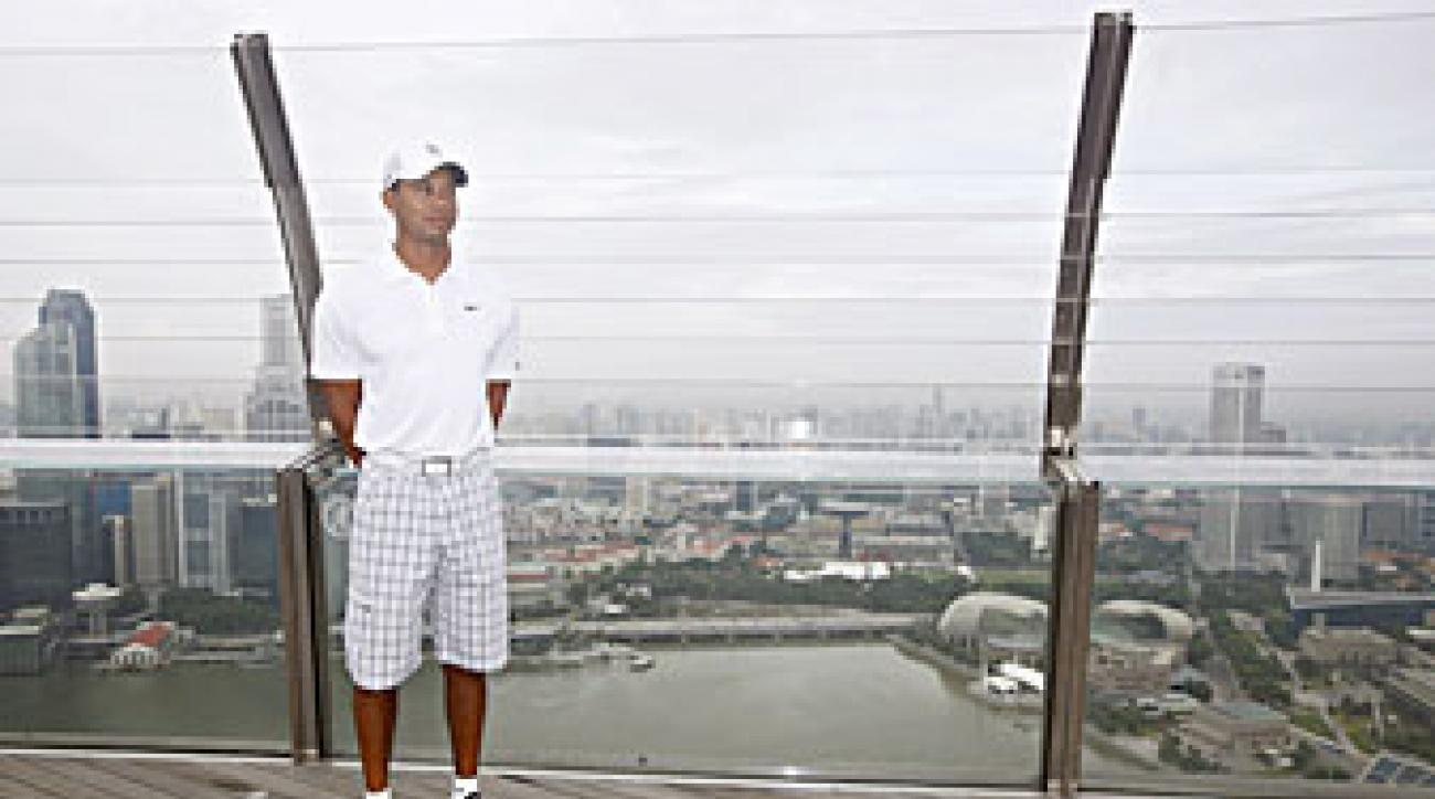 Tiger Woods said he was in Singapore looking for golf course design opportunities.