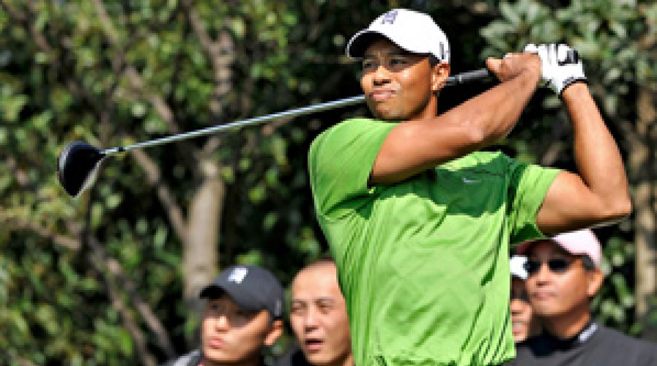 Tiger Woods has two runner-up finishes in the HSBC Champions.