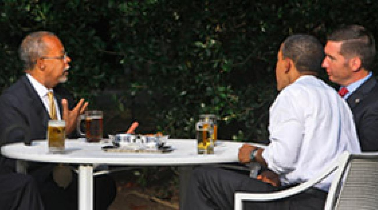 Fantasy Draft: Gates (from left), Obama and Crowley dealt with the hard realities of profiling.