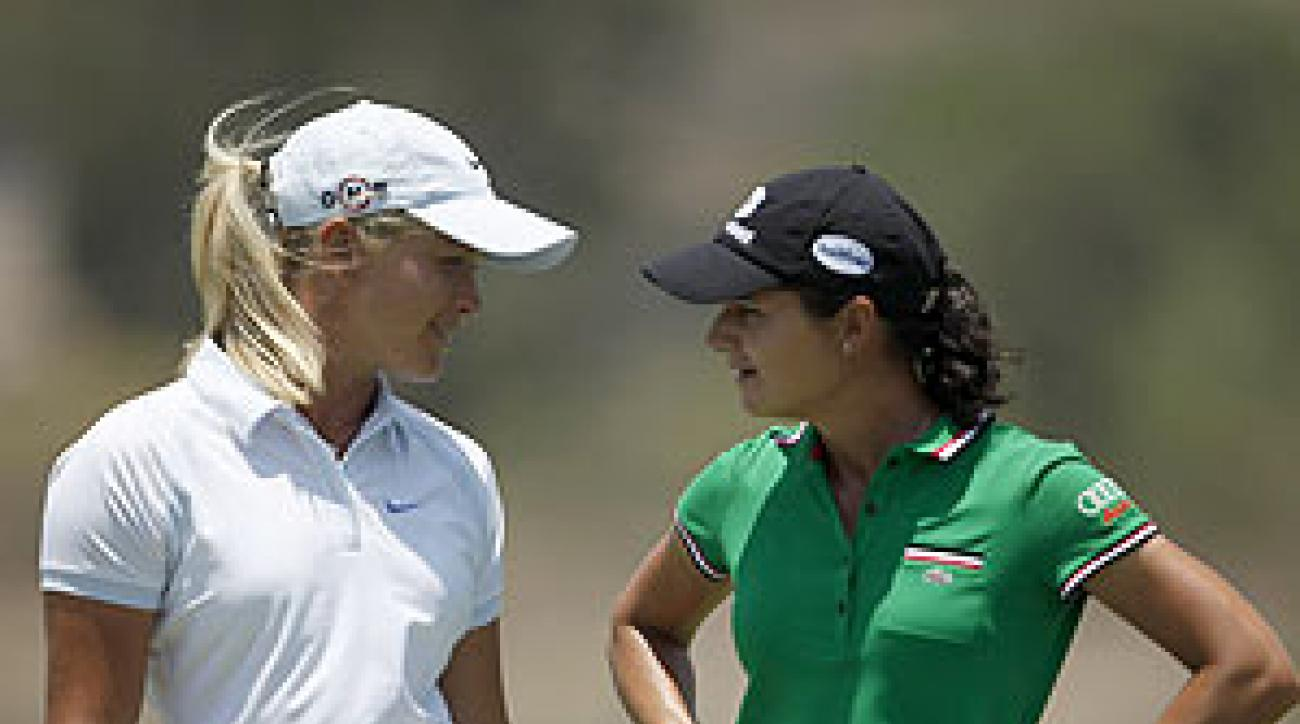 Lorena Ochoa held off Suzann Pettersen in the final round.