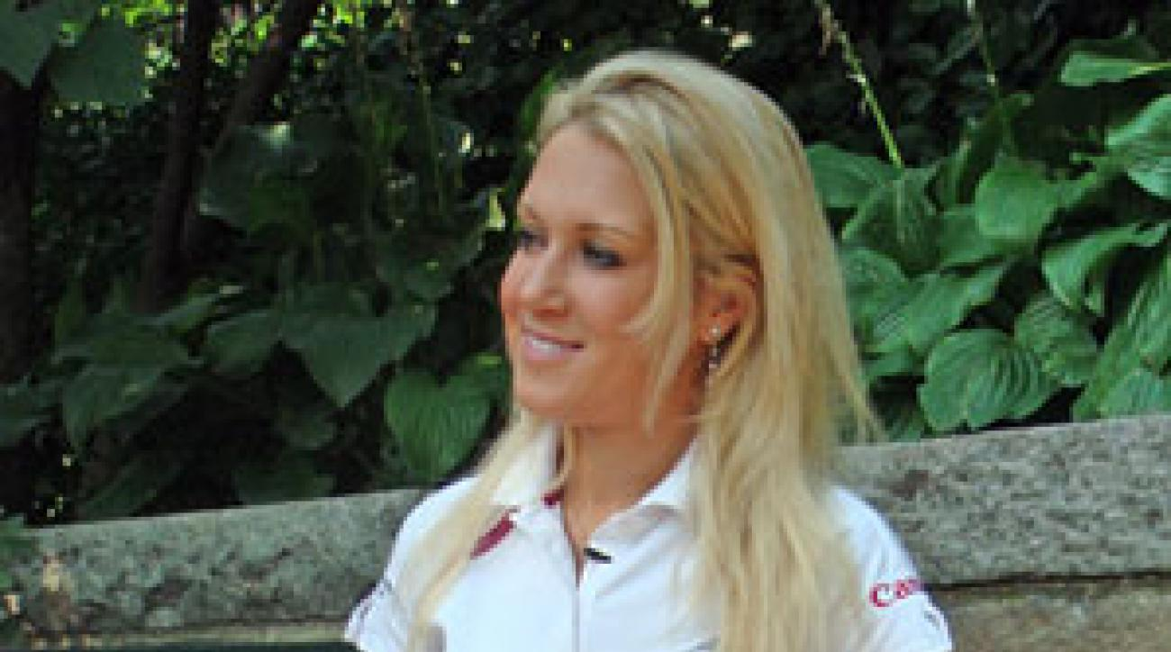 Natalie Gulbis won her first event this year at the Evian Masters.