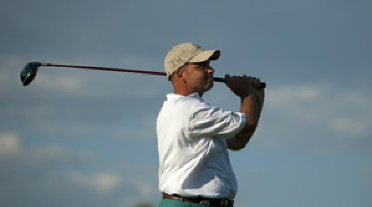 Rocco Mediate made an ace and five birdies on Thursday.
