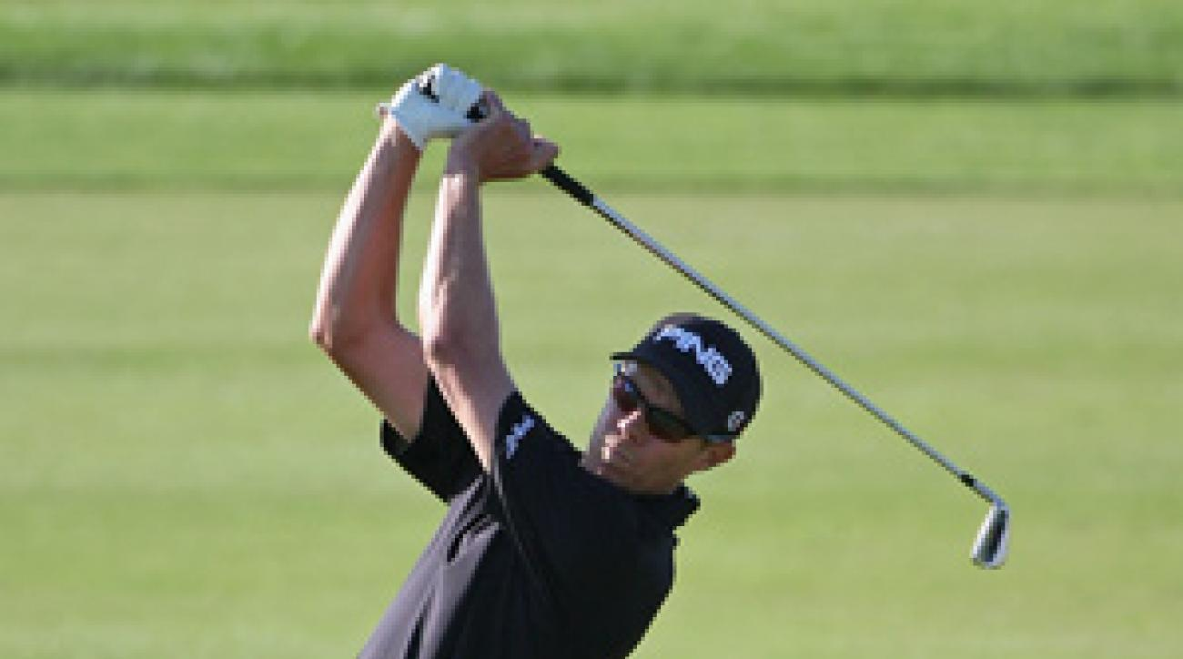 Nick O'Hern made eight birdies and a bogey on the back nine.