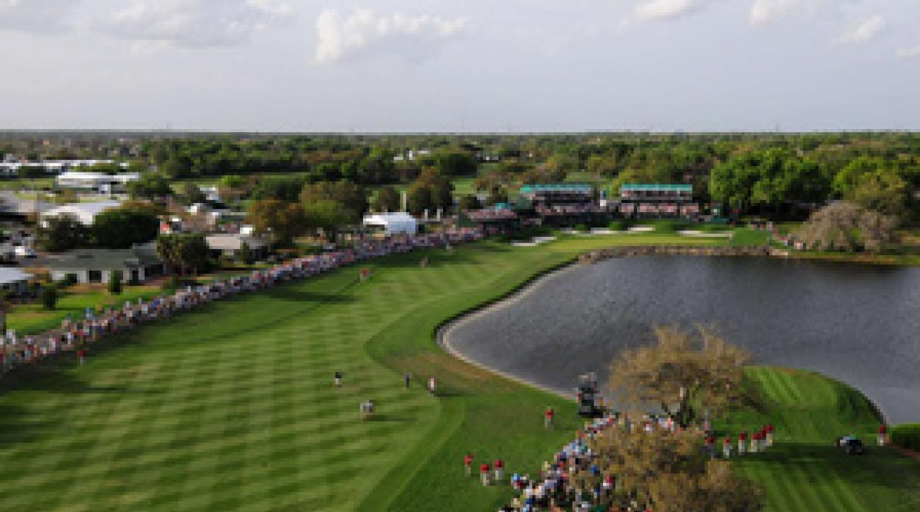 No. 18 at Bay Hill has a new tee and is one of many holes with reshaped greens, allowing for more pin placements.