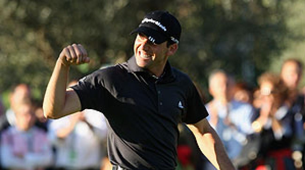 Sergio Garcia won the tournament by three strokes.