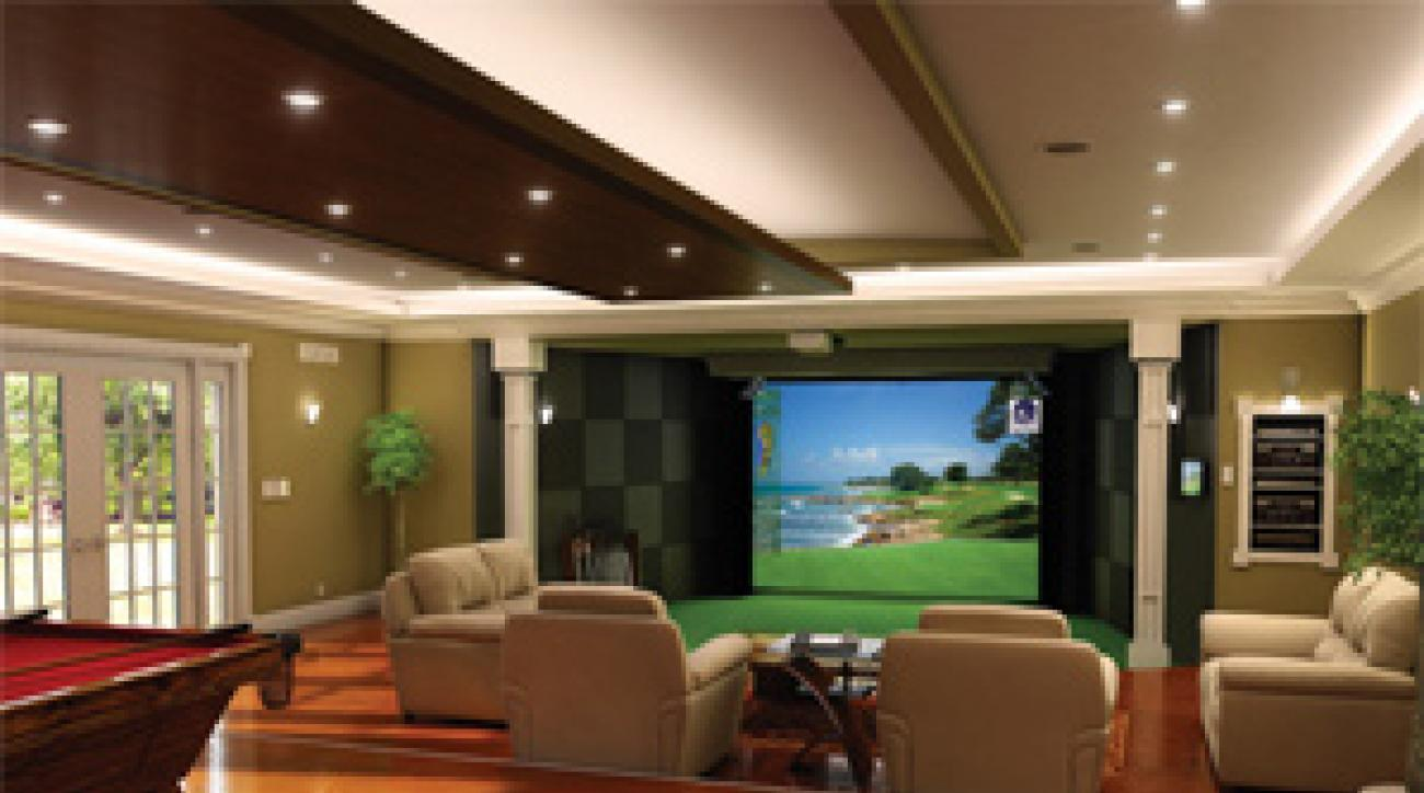 High Definition Golf simulators can replicate an on-course experience, right down to the chirping birds.
