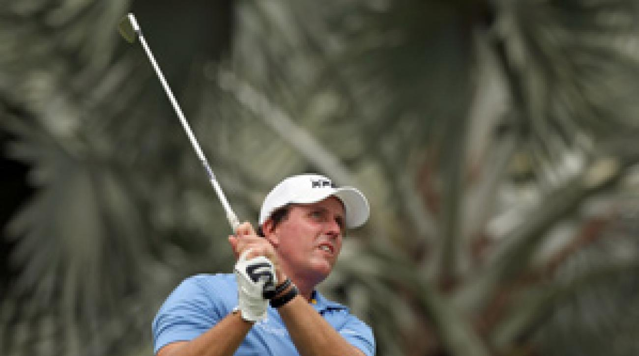 Phil Mickelson tied for ninth place last year at the Singapore Open.